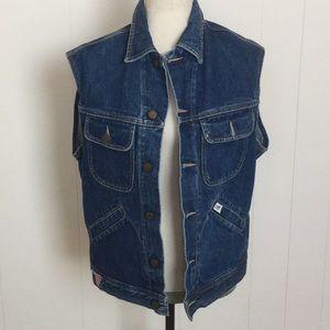 Vintage Guess Jean Vest 1980s